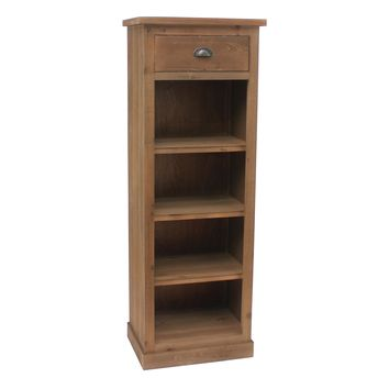 Newhaven 1 Drawer Tall Rustic Wood Bookshelf By Crestview Collection Cvfzr1534