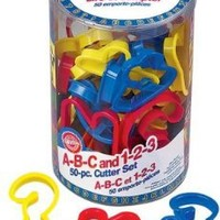 Wilton 50 Piece ABC & 123 Cookie Cutter Set