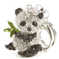 *Accessories Boutique The Bejeweled Panda Keychain in Silver : Karmaloop.com - Global Concrete Culture