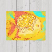 Serene golden fish