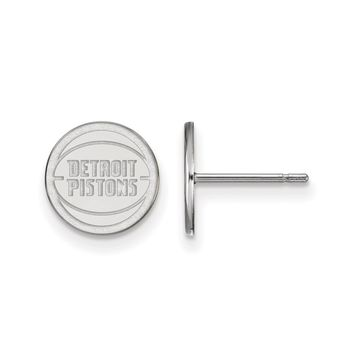 NBA Detroit Pistons 14k White Gold X-Small Disc Post Earrings