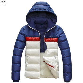 ADIDAS winter new lightweight down jacket coat hooded windproof warm cotton clothing #4