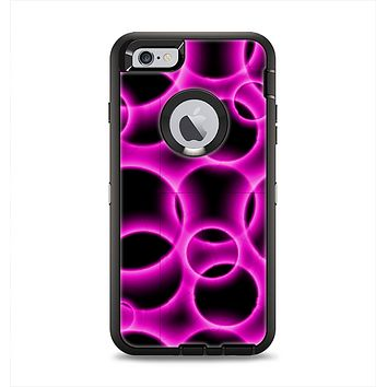 The Vibrant Pink Glowing Cells Apple iPhone 6 Plus Otterbox Defender Case Skin Set