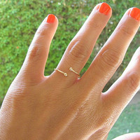 Gold ring, Any Size, spiral ring, thin delicate ring, bridal jewelry,thin ring, stacking ring, gold bangle, gold wire ring