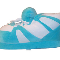 Turquoise and White Slippers : Standard Happy Feet: Happy Feet Slippers : BuyHappyFeet.com : snookislippers.com