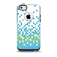 The Green and Blue Mosaic Pattern Skin for the iPhone 5c OtterBox Commuter Case