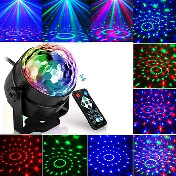 LED Disco Ball Party Lights 3W Sound Activated DJ Stage Lights