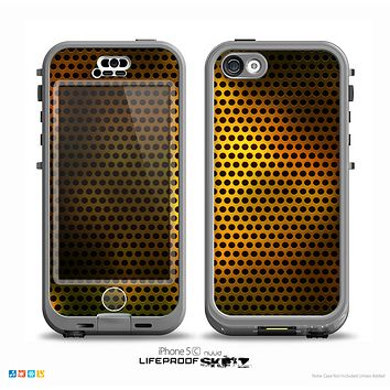 The Golden Metal Mesh Skin for the iPhone 5c nüüd LifeProof Case