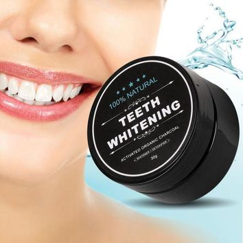new teeth whitening scaling powder oral hygiene cleaning packing premium activated bamboo charcoal powder food grade gift necklace  number 1