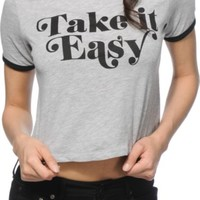 Empyre Take It Easy Crop Ringer T-Shirt