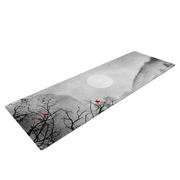 "Viviana Gonzalez ""The Red Sounds And Poems, Chap"" Gray Black Yoga Mat"