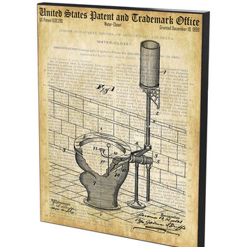Water Closet Patent- Historic Bathroom Patents Series