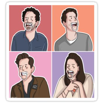 'Falsettos Cast' Sticker by elder-moss