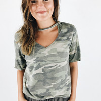 Cut It Out Camo Tee