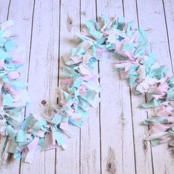 Winter Onderland garland - pink birthday decor - girl baby shower banner - vintage tea party birthday - Girl Winter Onderland Birthday
