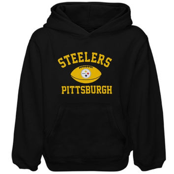 Pittsburgh Steelers Youth Standard Issue Pullover Hoodie - Black - http://www.shareasale.com/m-pr.cfm?merchantID=7124&userID=1042934&productID=520962804 / Pittsburgh Steelers
