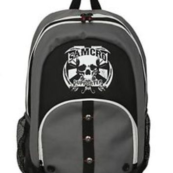 Sons of Anarchy BACKPACK Shoulder Bag SAMCRO SUPPORTER Charlie Hunnam BIKER Jax