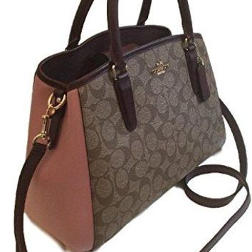 COACH COLORBLOCK SIGNATURE MARGOT CARRYALL BAG F57492
