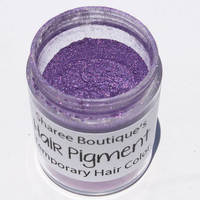 Dark Purple Hair Pigment - Temporary Hair Color - Hair Chalk Alternative - Colored Sparkle