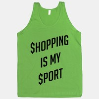 Shopping Is My Sport (black font)