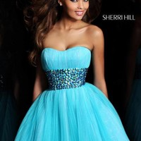 Sherri Hill Short Dress 21163 at Peaches Boutique