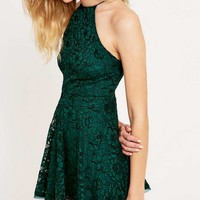 Kimchi Blue Loraine Green Lace Dress - Urban Outfitters