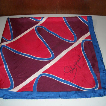 Vintage Schiaparelli Large Silk Scarf Made in Japan