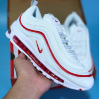 HCXX N431 Nike Air Max 97 Bullet Series Full Palm Air Cushion Sports Casual Running Shoes White Red