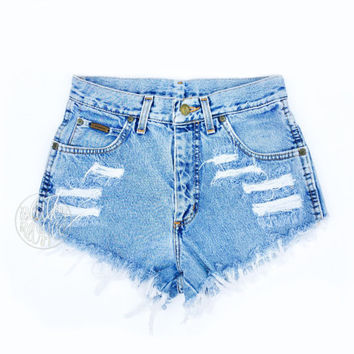 High waisted jean Shorts - High Waisted Cutoffs Denim Cheeky - All Sizes xs s m l xl xxl