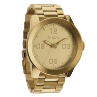 Men's Nixon The Corporal SS Watch In All Gold