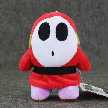 14cm Super Mario Plush Shy Guy anime plush stuffed pendant keychain toy