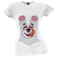 Twerk Bear Juniors Costume T-Shirt Inspired by Miley Cyrus, 2013 VMAs - Small White