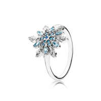 PANDORA | Crystalized Snowflake, Blue Crystals & Clear CZ