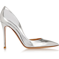 Gianvito Rossi - Metallic leather pumps