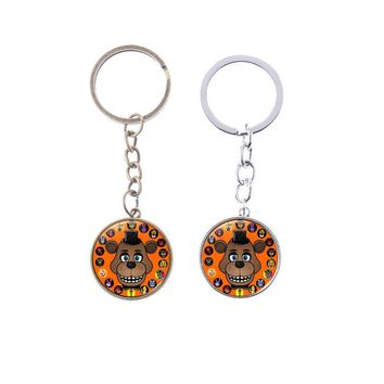 Glass Pendant  At  Sister Location  Freddy Bear Nightmare Springtrap Cabochon keychain Gift