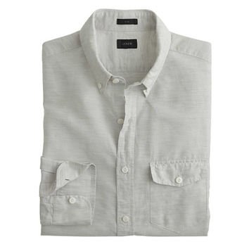 J.Crew Mens Tall Cotton-Linen Shirt