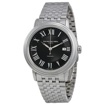 Raymond Weil Maestro Automatic Black Dial Stainless Steel Mens Watch