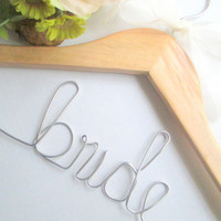 Personalized wedding hanger FREE wire love ring with each purchase now thru end of July