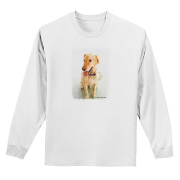 Golden Retriever Watercolor Adult Long Sleeve Shirt