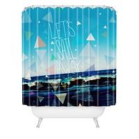 Leah Flores Lets Sail Away Shower Curtain