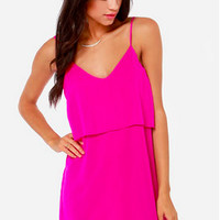 Hot Pink Chiffon Dress