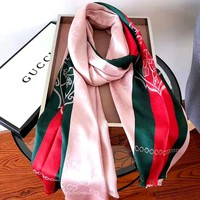 GUCCI 2019 new women's comfortable comfortable long silk scarf
