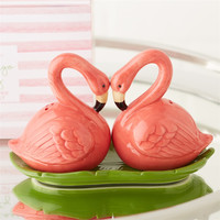 Pink Flamingo Party Salt and Pepper Shaker Set