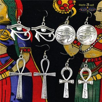 Egyptian Ankh/Eye Earings