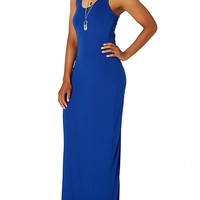 Knotted Neck Maxi Dress