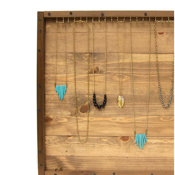 Jewelry Organizer // Necklace Storage Display // Storage & Organization // Reclaimed Wood Wall Rack // Handmade Eco-Friendly Home Furniture