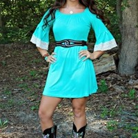 Jenny Lynn Tunic Dress in Mint