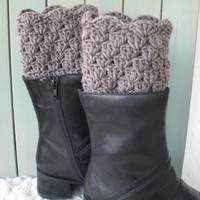 Womens Boot Cuffs - Crocheted Boot Cuffs - Boot Toppers - Winter Accessories - Fall Accessories - Winter Fashion - Fall Autumn Fashion