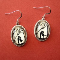 Autumn Kiss Earrings by tinatarnoff on Etsy