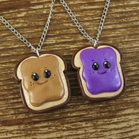Peanut Butter & Jelly Best Friends Necklace by rapscalliondesign